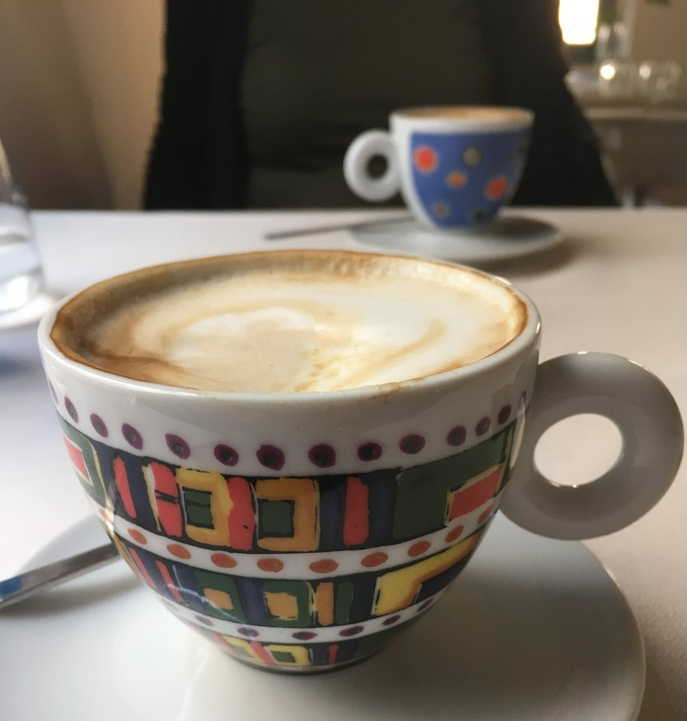 An after lunch macchiato - these cups made me smile!