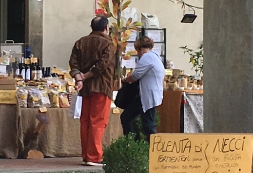 This popular booth at Lucca Picante sold both warm polenta topped with cheese and necci filled with fresh ricotta.