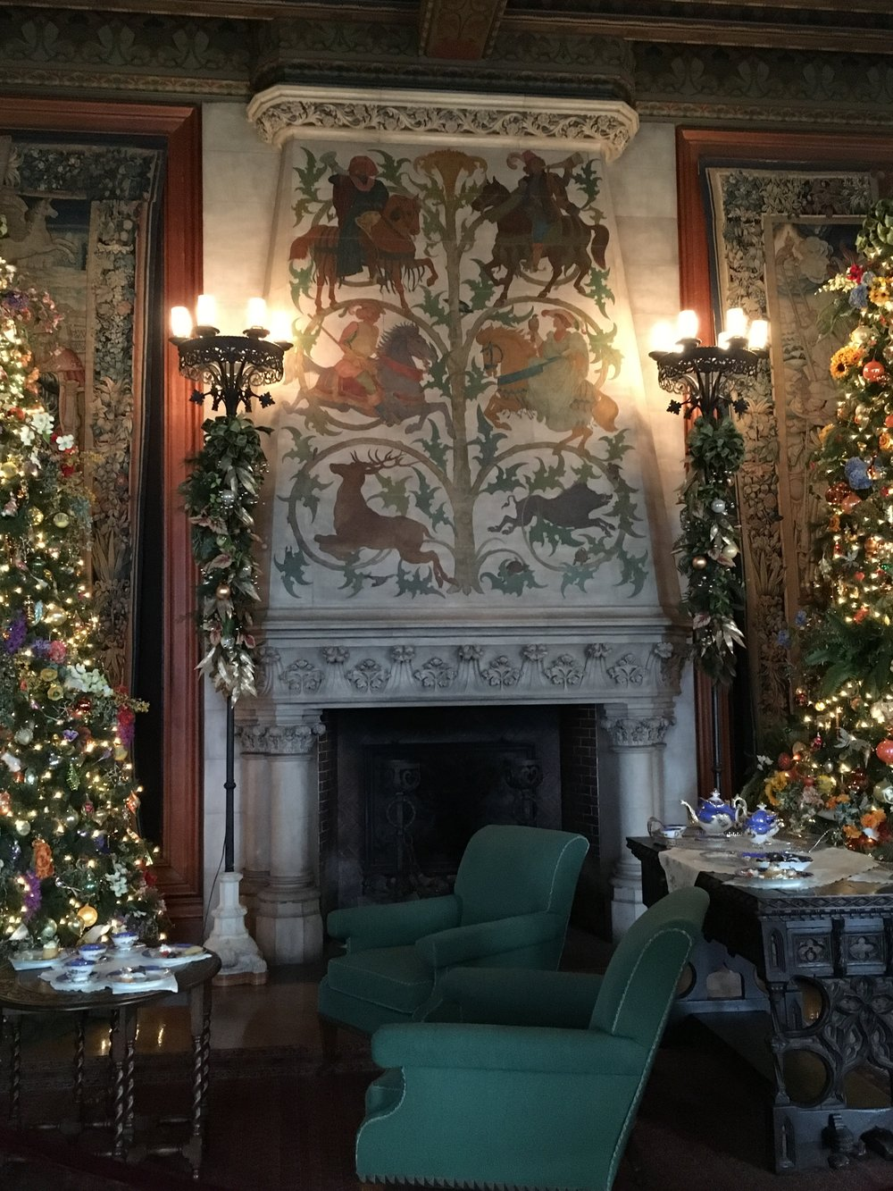 One of many beautifully decorated rooms at Biltmore House.