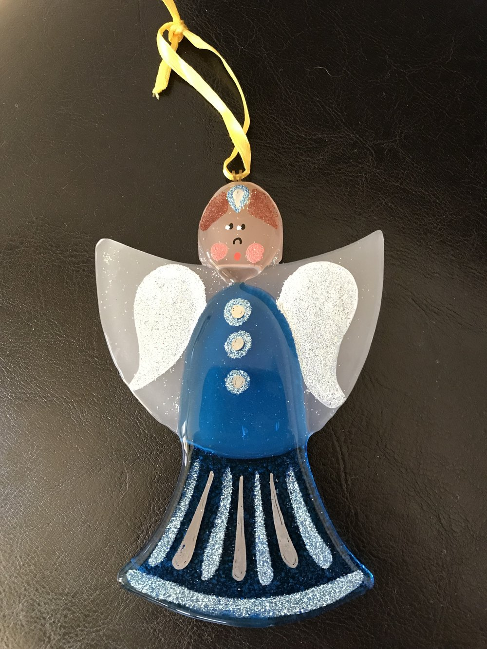This hand-blown glass angel is from Bellagio on lovely Lake Como in northern Italy.