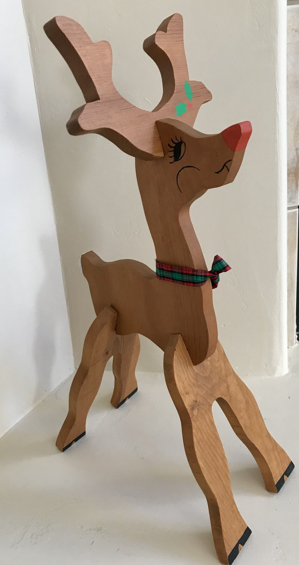 My father crafted this Rudolph.
