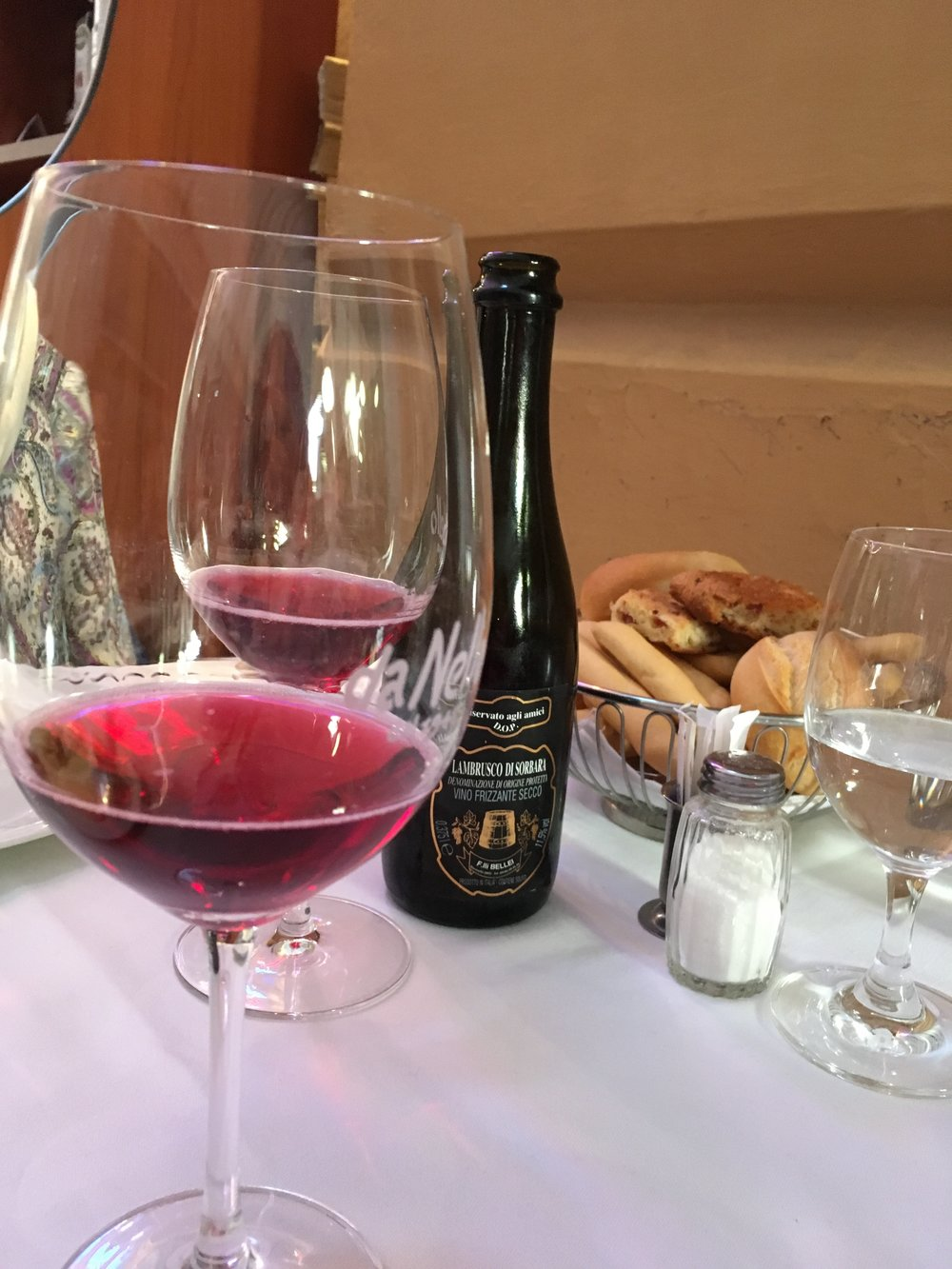 Lambrusco Wine, Bologna