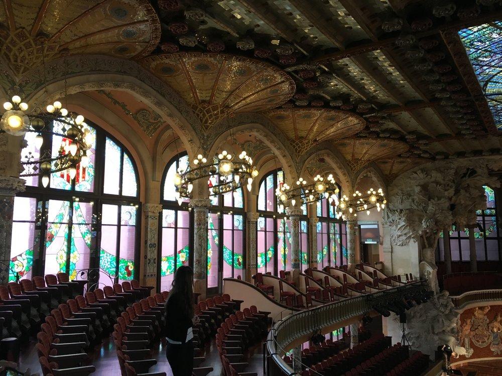 The theater in the Palau de la Musica