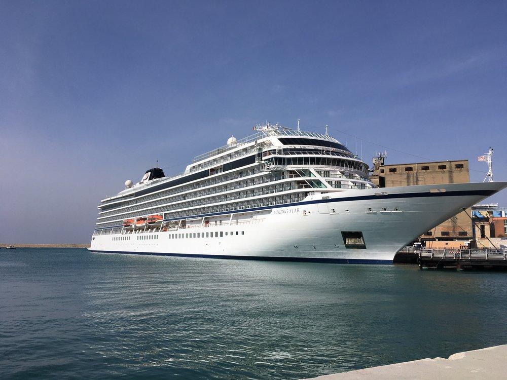 The Viking Star, docked in Livorno, Italy