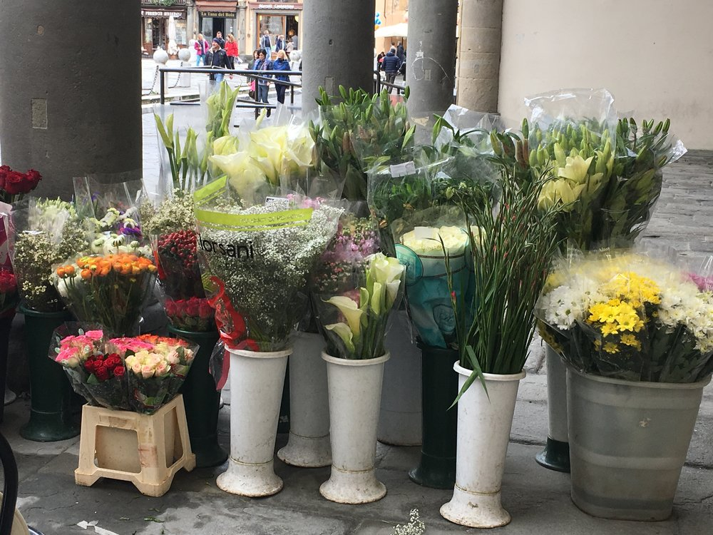 The Easter flower market in Lucca