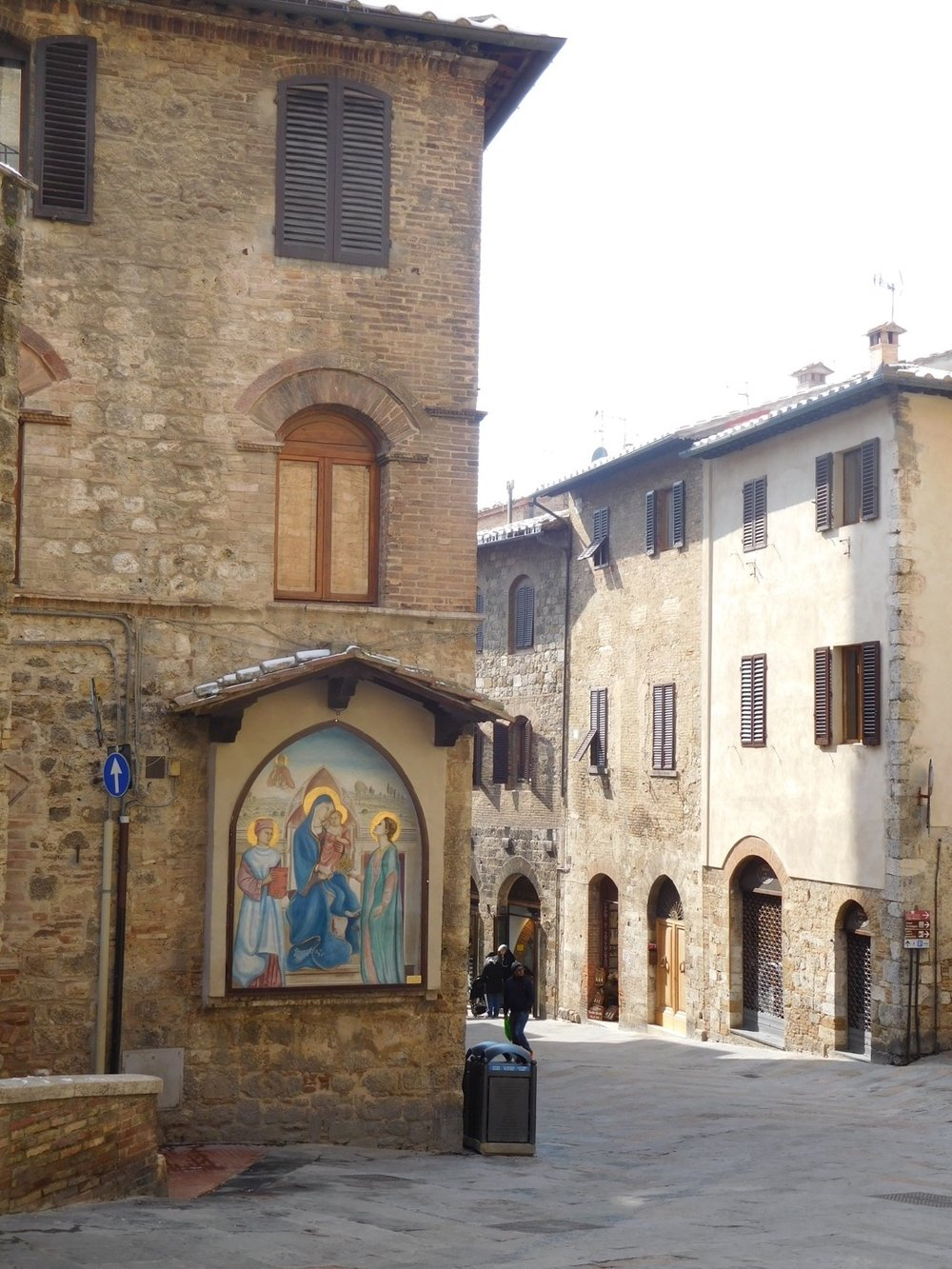 Beautiful art can be found along the streets of San Gimignano.