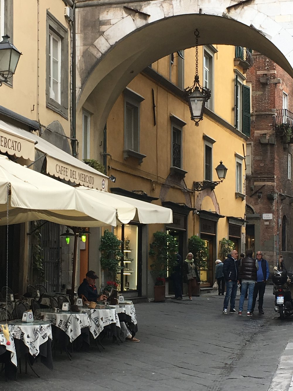 A cafe just off Piazza San Michele, Lucca