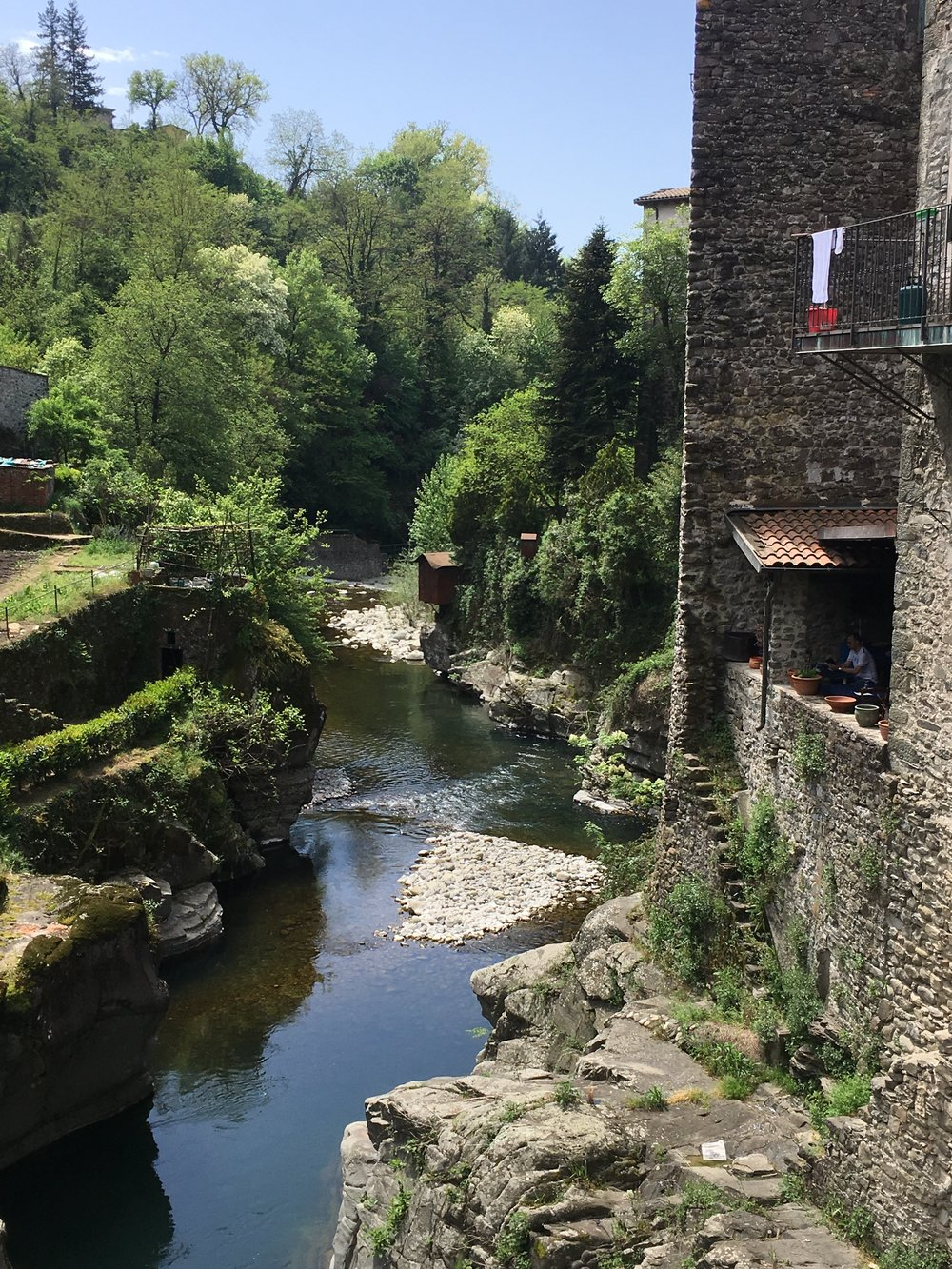 The river in Bagnone