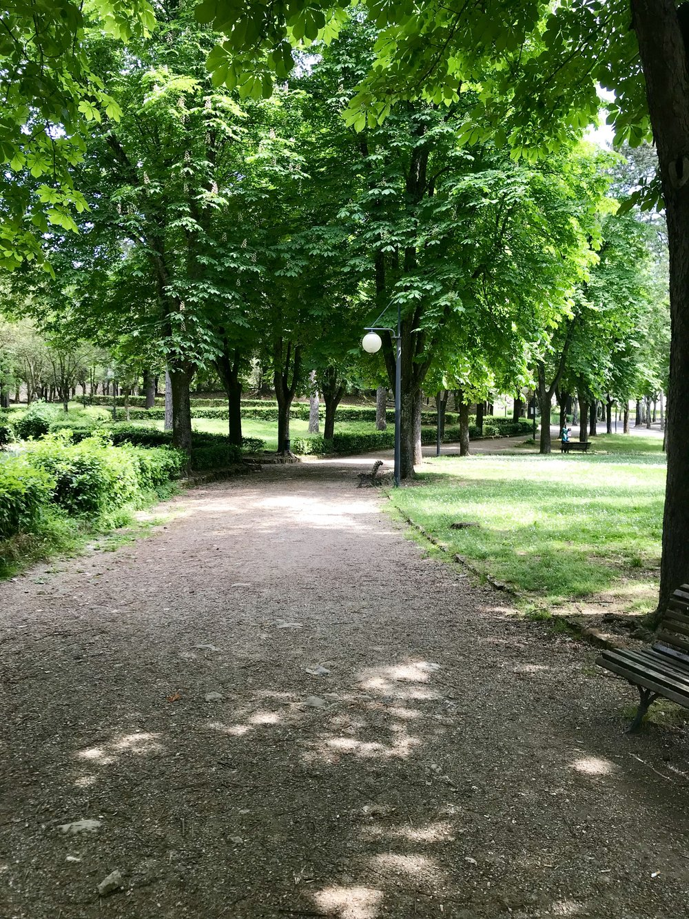 One of the parks in Arezzo
