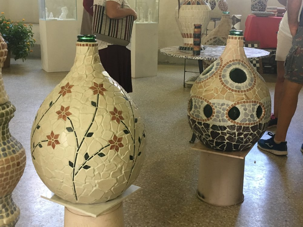 Beautiful ceramic demijohns