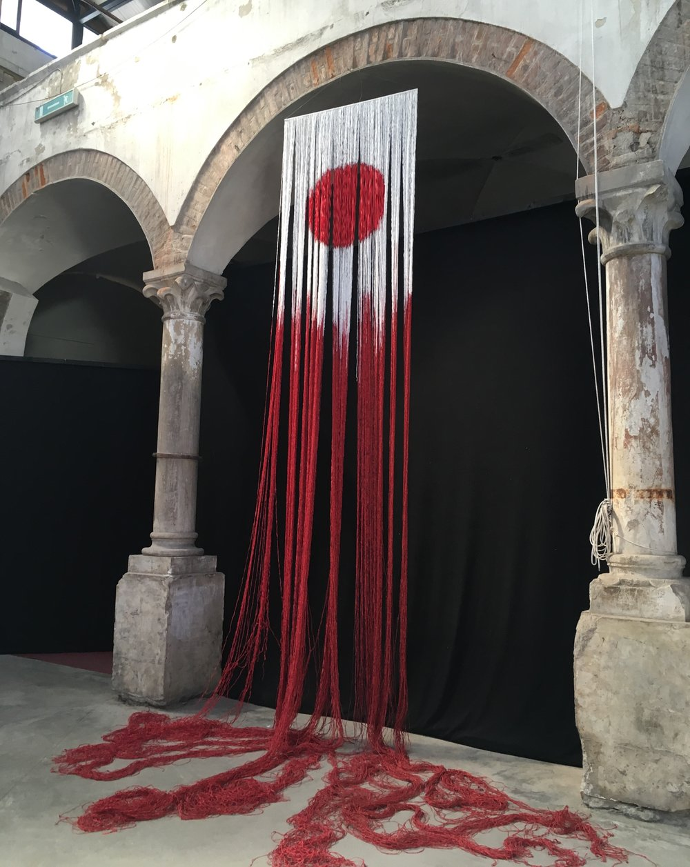 Radiate Eternal, Marie Schirrmacher-Metz, displayed in the old Mercato building
