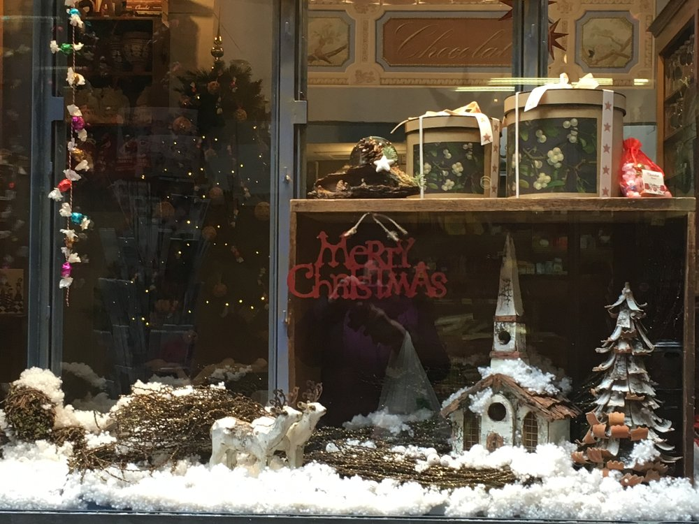The window of this chocolate shop is one of my favorites.