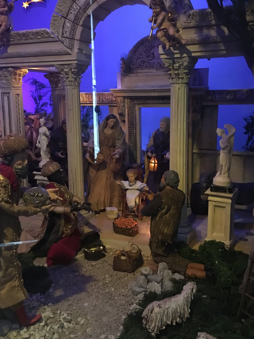 A small portion of the presepe at the church of San Salvatore in Lucca