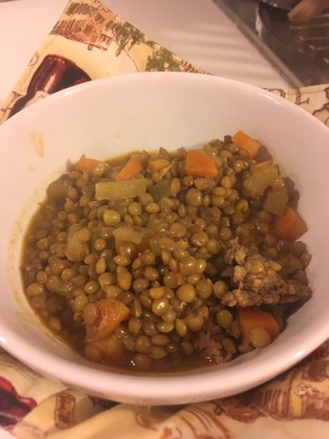 Lentils for good luck and fortune