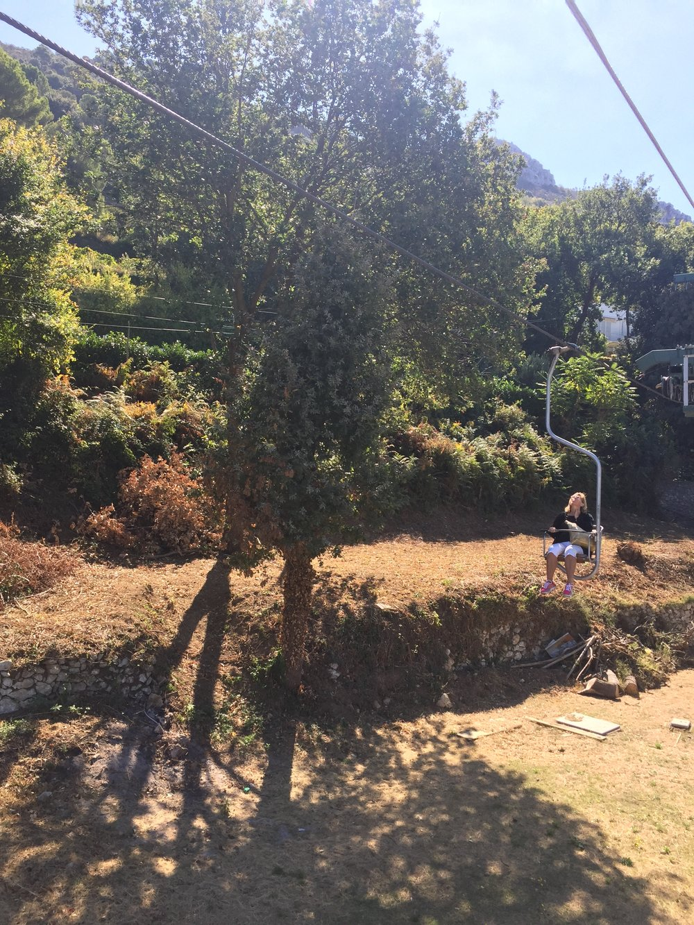 The chairlift on Anacapri