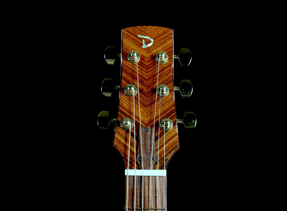 Two-Way Angled Bookmatched Headstock