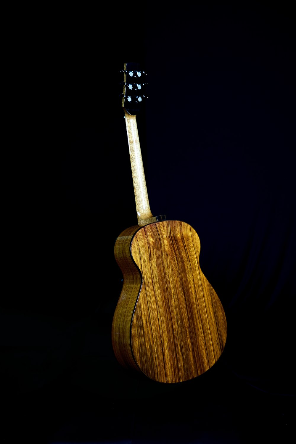 Cocobolo Back and Sides with Macassar Ebony Binding on Jumbo