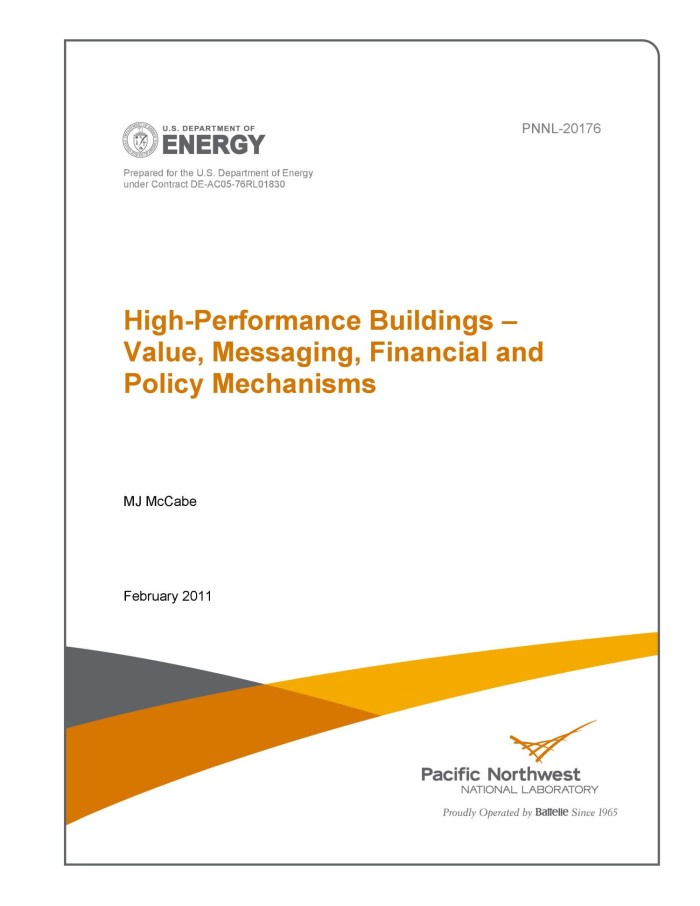 High Performance Buildings PNNL