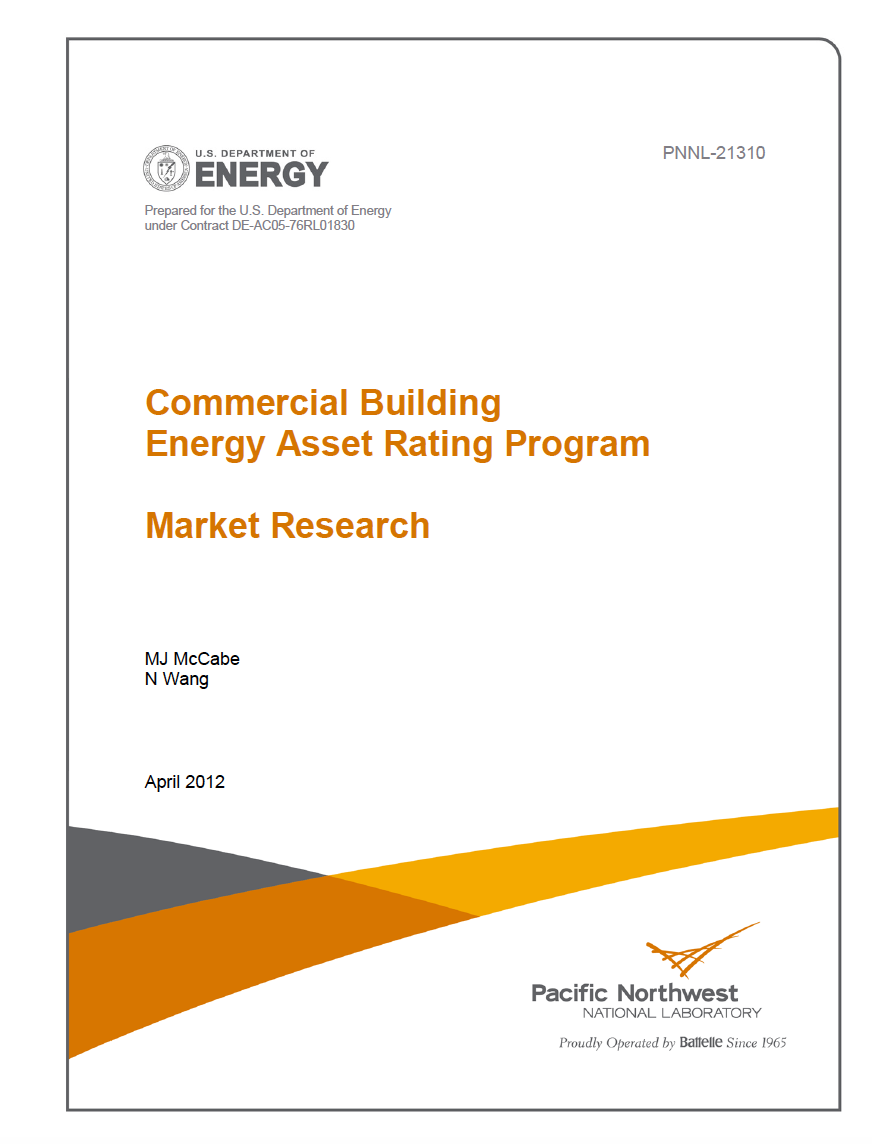 Commercial Building Energy Asset Rating PNNL