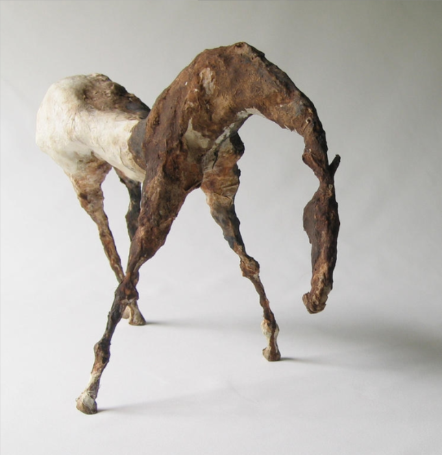 "Terne II (8"" Tall) Sculpture of Paper Mache"