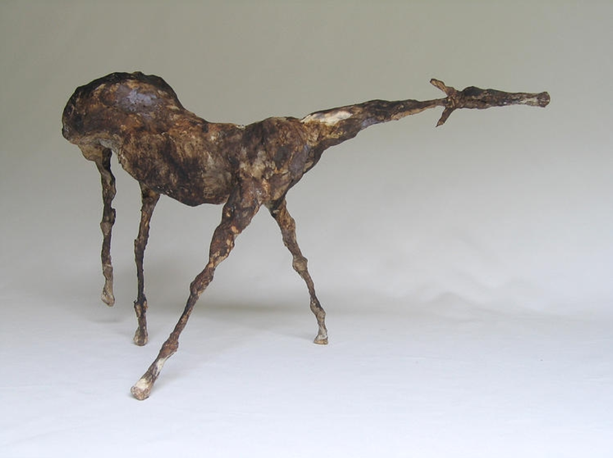 "Terne IX (8.2"" Tall) Sculpture of Paper Mache"
