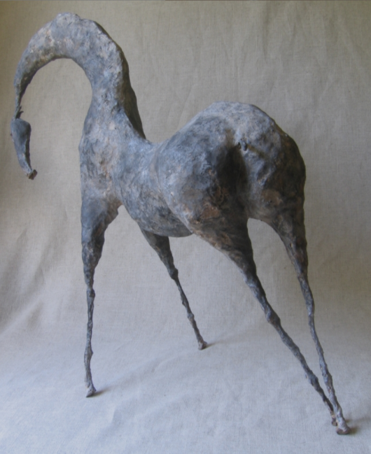 "Mjolk I (22.6"" Tall) Sculpture of Paper Mache"