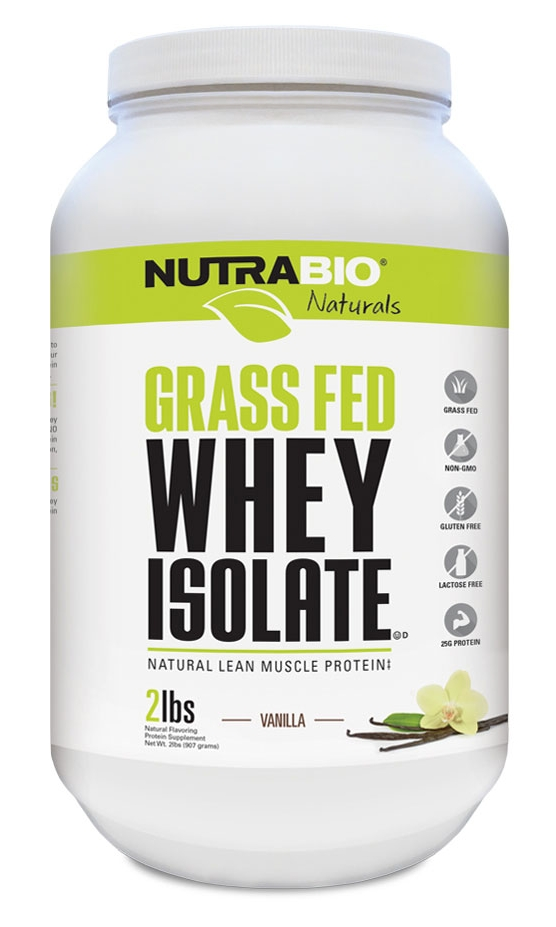 NUTRABIO Grass Fed 100% Whey Isolate