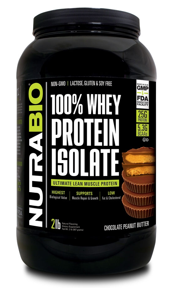 NUTRABIO 100% Whey Isolate Protein
