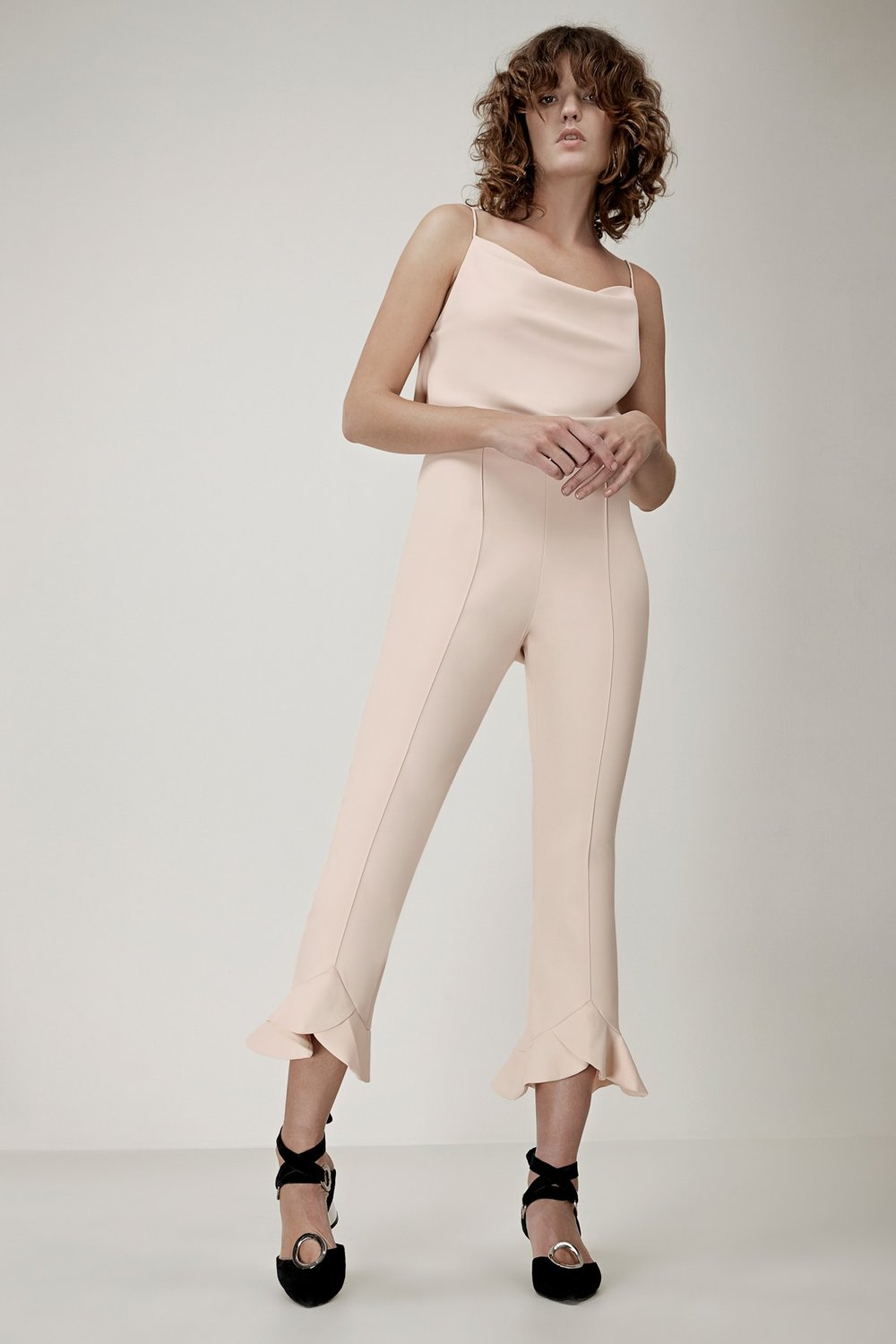 The name of these pants say it all. First impressions mean a lot, and our first impression of these pants is WOW! The sleek blush fabric and ruffle detail are feminine and fashion forward while still being office appropriate. So go head, rock these beauties 9-5 during the week with a smart blazer and pair them with a lightweight knit on the weekend.