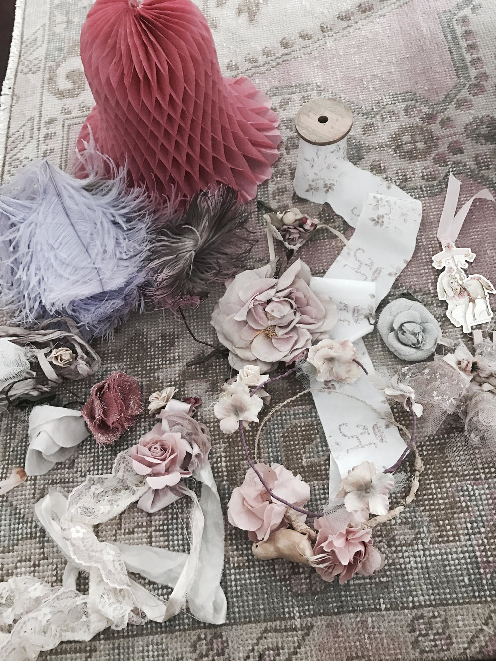Huge lot vintage millinery pieces.  SHOP THE LOOK
