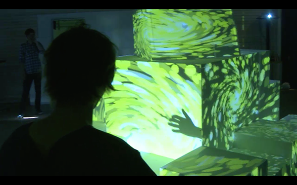Projection mapping installation.