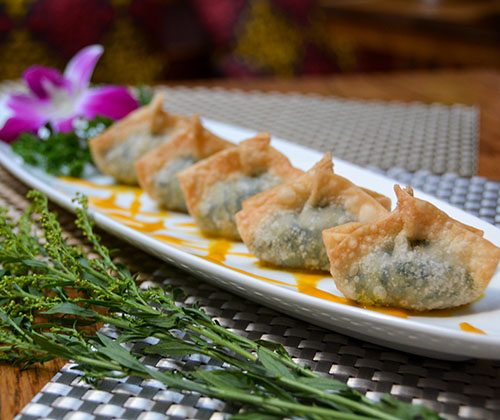 Crispy Watercress &Soy Cheese Wonton