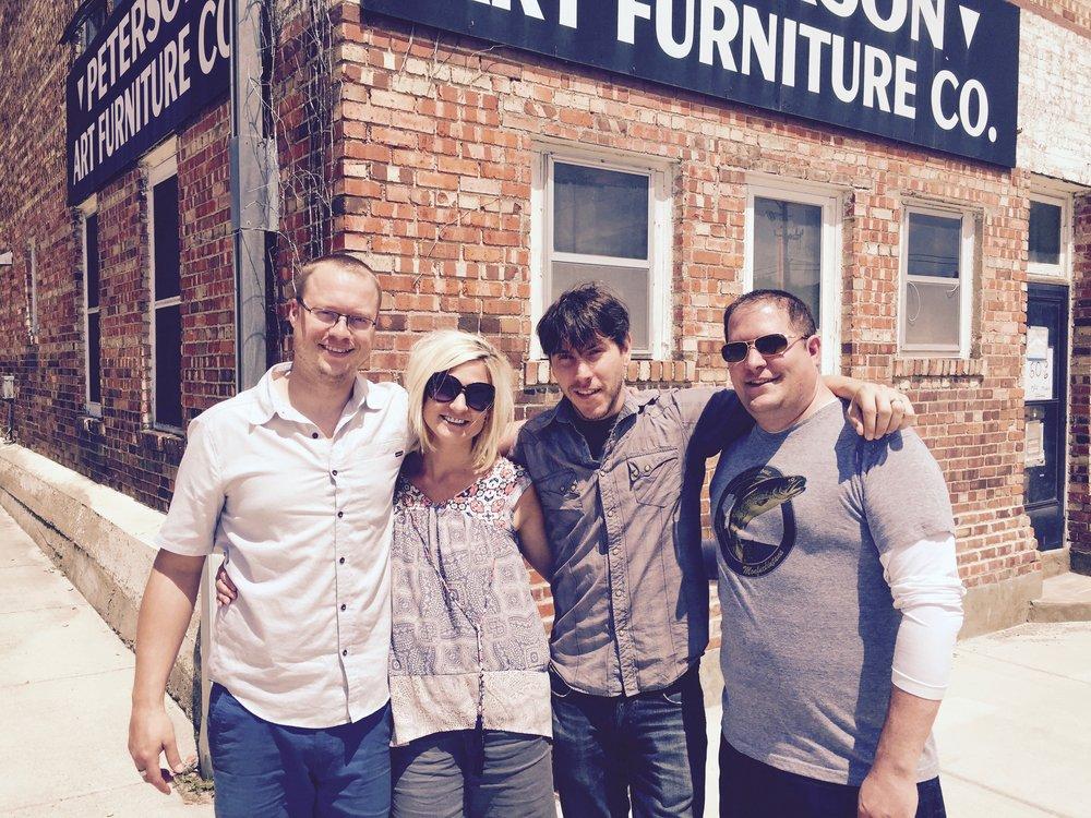 Team from left to right:  Jake Hvistendahl, Kristie Kruchoski, Rob Kruchoski, & Patrick Jacobs