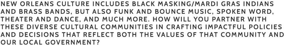 """Bouie:  This is an example where equity is favored over equality. The needs of each genre are different and we have to develop policies that support each genre as this is not a """"one size fits all"""" situation. I'm for taking the time to engage and understand what's working and what's not and develop unique """"win/win"""" policies.     Cutno:  We will work together to do this."""