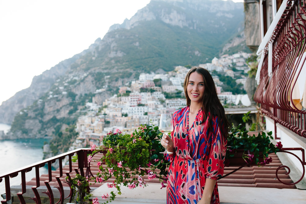 Veronica in Positano!  Usually travel solo but it's always nice having someone to put sunscreen on your back and take photos of you!