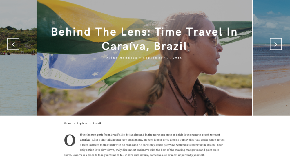 Contributing Photographer for Electrify Magazine.  Caraiva, Brazil.