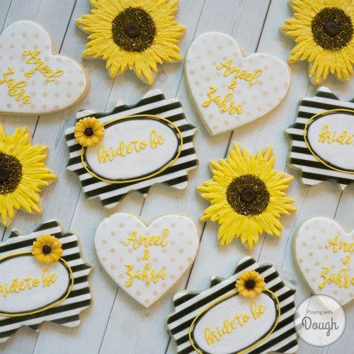 sunflower bridal shower set
