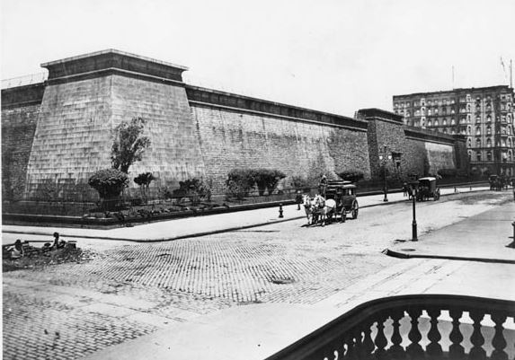 The Old Croton Reservoir, since torn down to make way for the current main branch of the New York Public Library on 5th Avenue and 42nd Street.