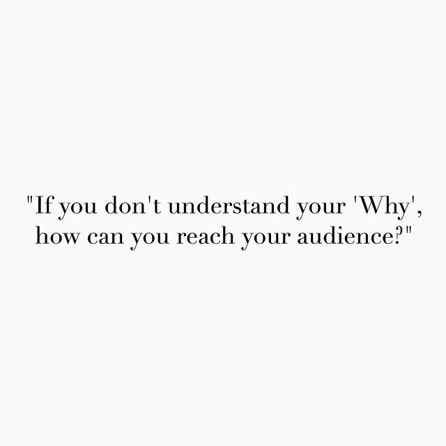 This is a great quote from a motivational video that we just watched here at #BLOGGERBOOTCAMP - get to know your WHY ❤