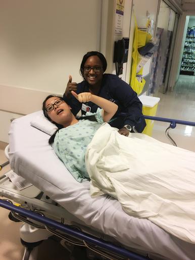 ME AND ONE OF MY AWESOME NURSES, KALISHA!
