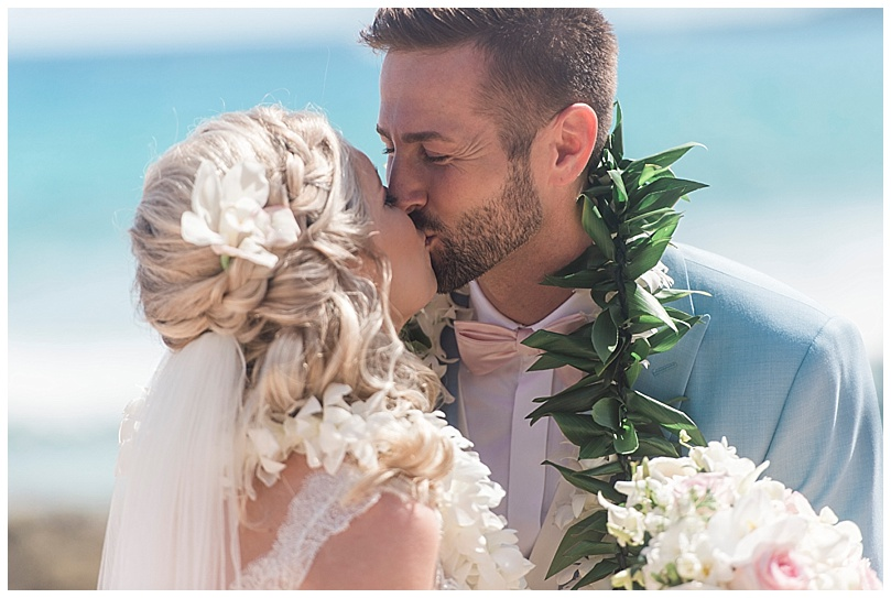 ironwoods-beach-elopement-maui-bride-and-groom-kissing