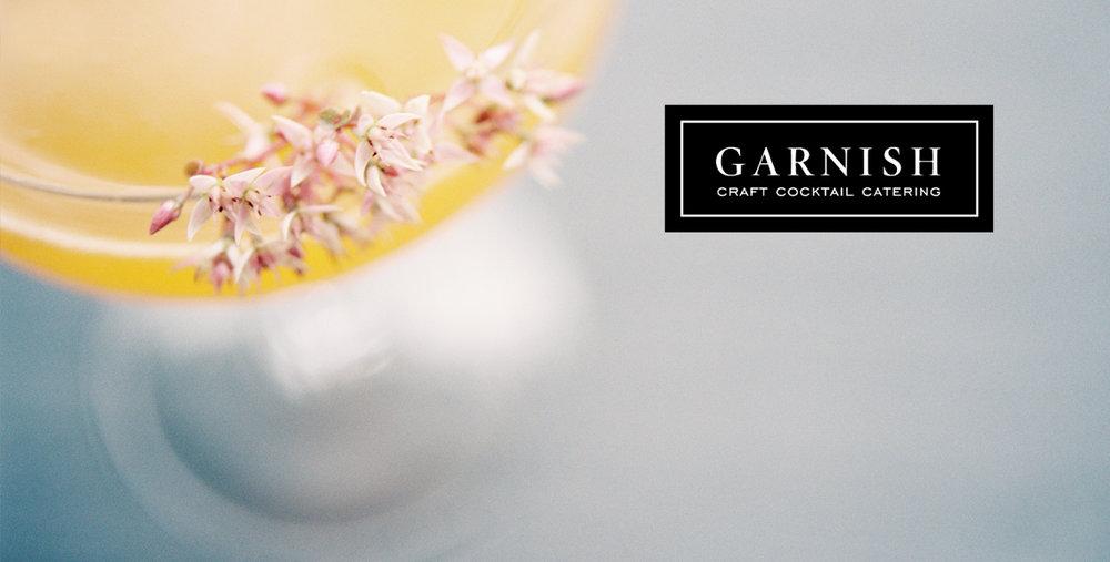 Garnish Craft Cocktails Branding Shoot