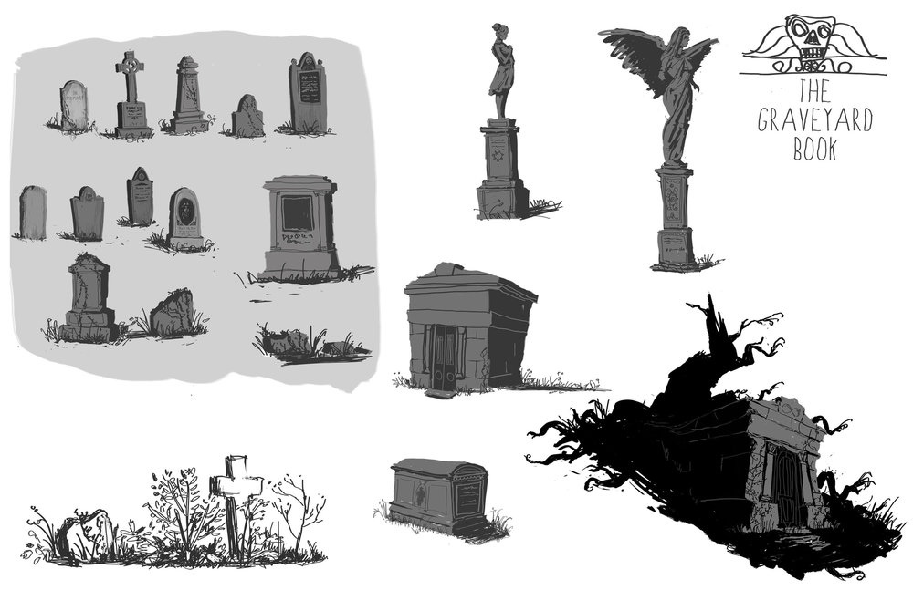 Click to see more art of The Graveyard Book