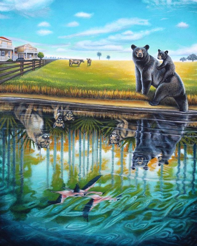 Nathan Miller is an artist working in Costa Rica who came home to paint the story of the Florida black bear's disappearing habitat. New story coming soon to Coucou Home! #florida #costarica #home 📷: @nathanmillerfineart