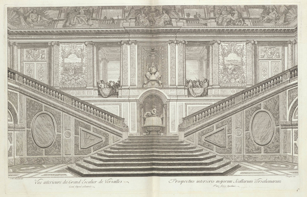 Vue interieure du grand escalier de Versailles costé oposé a l'entrée (Digital image courtesy of the Getty's Open Content Program)