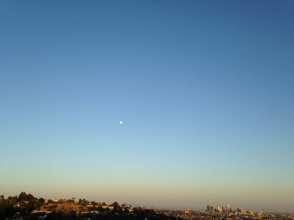 The moon over Los Angeles. (Photo by: Mary Warner)