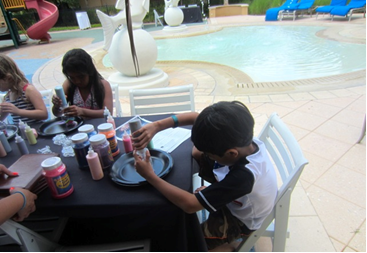 Poolside fun, Ritz Carlton Grande Lakes, Orlando