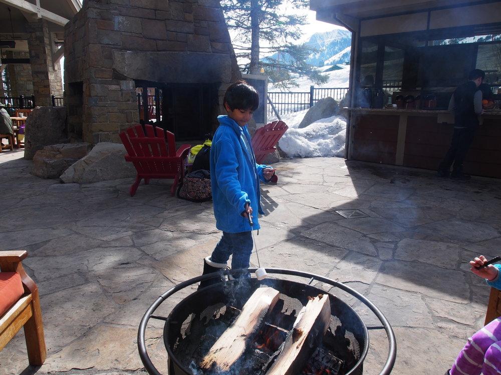 Four Seasons Resort Jackson Hole s'mores anyone?