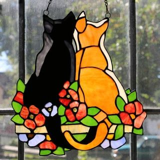 $45 - Make your own faux stained glass cat using only glue and acrylic paint! We will offer several designs to choose from, each piece will be made onto a framed piece of glass!