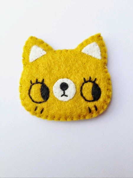 $20 - These adorable kitty brooches are purrfect for any jacket, backpack, and more!